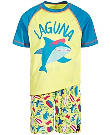 Toddler and Little Boys 2-Pc. Totally Jawsome Swim Set