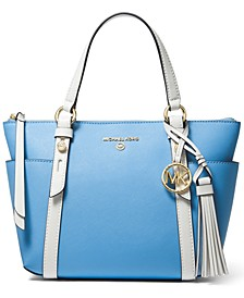 Sullivan Small Convertible Top Zip Leather Tote