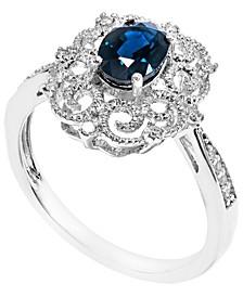 Sapphire Milgrain Ring