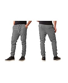 Men's Slim-Fit Classic Cotton Stretch Cargo Joggers