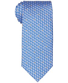 Men's Classic Interlocked Geo Silk Tie