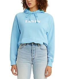 Women's Logo Print Hoodie Sweatshirt