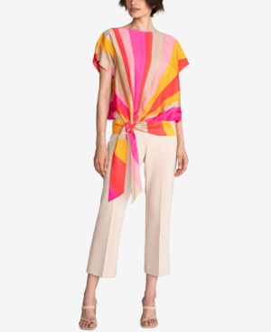 Trina Turk CARLSBAD COTTON STRIPED TIE TOP
