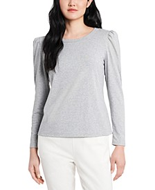 Poppy Puff-Sleeve Top, Created for Macy's
