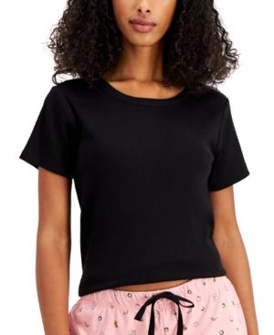Ribbed-Knit Pajama T-Shirt