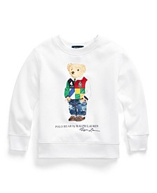 Little Boys Polo Bear Fleece Sweatshirt