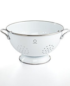Martha Stewart Collection Enamel on Steel 5 Qt. White Colander, Created for Macy's