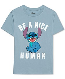 Juniors' Stitch-Graphic T-Shirt