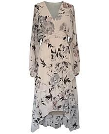 Petite Gathered-Waist Midi Dress
