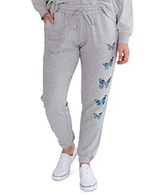 Juniors' Butterfly-Graphic Sweatpants