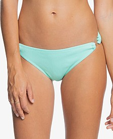 Juniors' Mind Of Freedom Textured Ring Bikini Bottoms