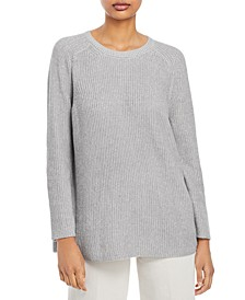 Crewneck Flat Saddle Pullover Sweater