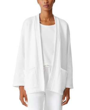 Eileen Fisher Cottons ORGANIC COTTON OPEN-FRONT JACKET