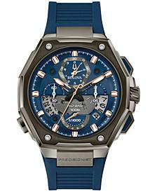 Men's Chronograph Precisionist X Blue EPDM Rubber Strap Watch 44.5mm