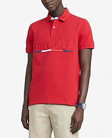 Men's Custom-Fit Toby Embroidered Logo Piqué Polo