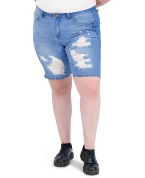 Trendy Plus Size High-Rise Dream Jean Shorts