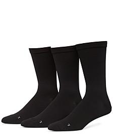 Men's 3-Pack Pique Flat Socks
