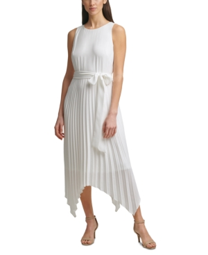 70s Dresses – Disco Dress, Hippie Dress, Wrap Dress Jessica Howard Pleated Midi Dress $109.00 AT vintagedancer.com