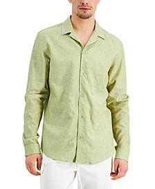 Men's Regular-Fit Textured Camp Shirt, Created for Macy's