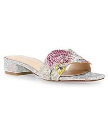 Lins Block Heel Slide Sandals