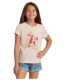Big Girls Rainbow Parrots Boy Tee