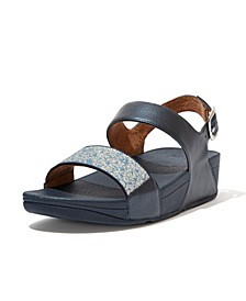 Women's Lulu Glitter Splash Back-Strap Sandals