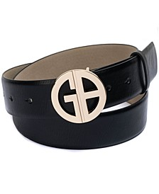 Panel Belt With Signature Buckle