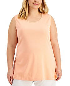 Plus Size Cotton Tank Top, Created for Macy's