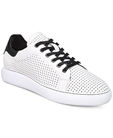 Men's Perforated Leather Sneakers