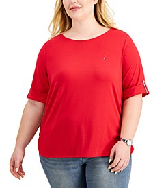 Plus Size Roll-Tab T-Shirt