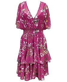 Plus Size Floral-Print Blouson Dress