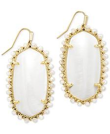 Gold-Tone Beaded Danielle Drop Earrings