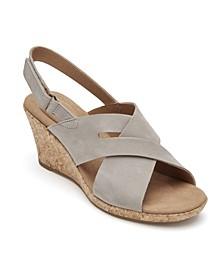 Women's Briah Slot Sling Wedge Sandals