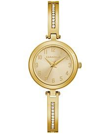 Women's Gold-Tone Stainless Steel Bangle Bracelet Watch 26mm Gift Set