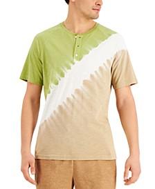 Men's Dip-Dye Henley Shirt, Created for Macy's