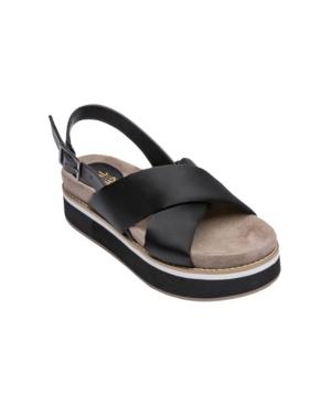 Women's Alma Cross Band Flatform Sandals Women's Shoes