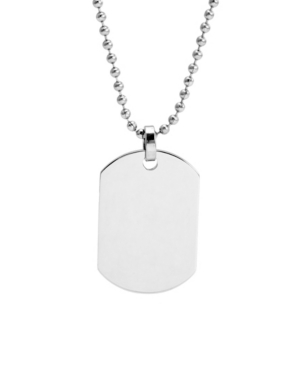 Men's Small Stainless Steel Dog Tag Necklace