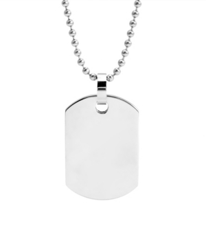 Men's Medium Stainless Steel Dog Tag Necklace