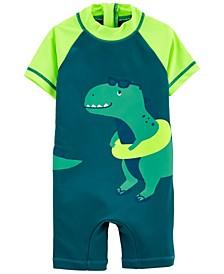 Baby Boys Dinosaur 1-Piece Rashguard