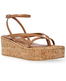 Women's Nadeen Barely-There Strappy Flatform Wedges
