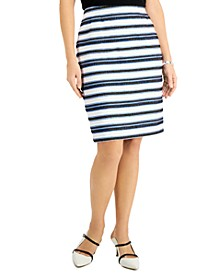 Petite Striped Skirt