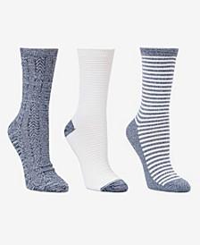 Women's Crew Socks, 3 Pack