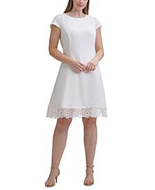 Plus Size Lace-Trim A-Line Dress