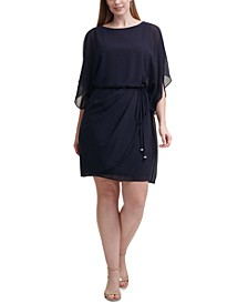 Plus Size Blouson A-Line Dress