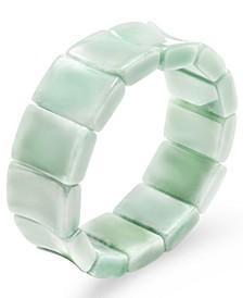 Jade Bamboo-Inspired Stretch Bracelet