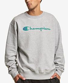 Men's Script Logo-Print Fleece Sweatshirt