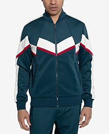 Men's Broken Chevron Blocked Track Jacket