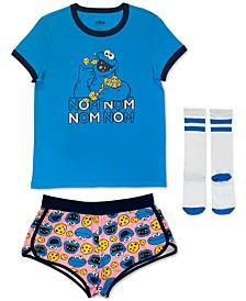 Cookie Monster 3pc Pajama Set