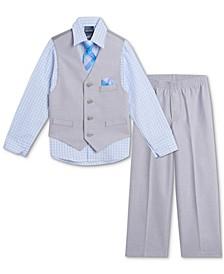 Baby Boys Shirt, Vest, Pants & Tie Set