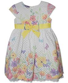 Baby Girls Floral-Print Dress